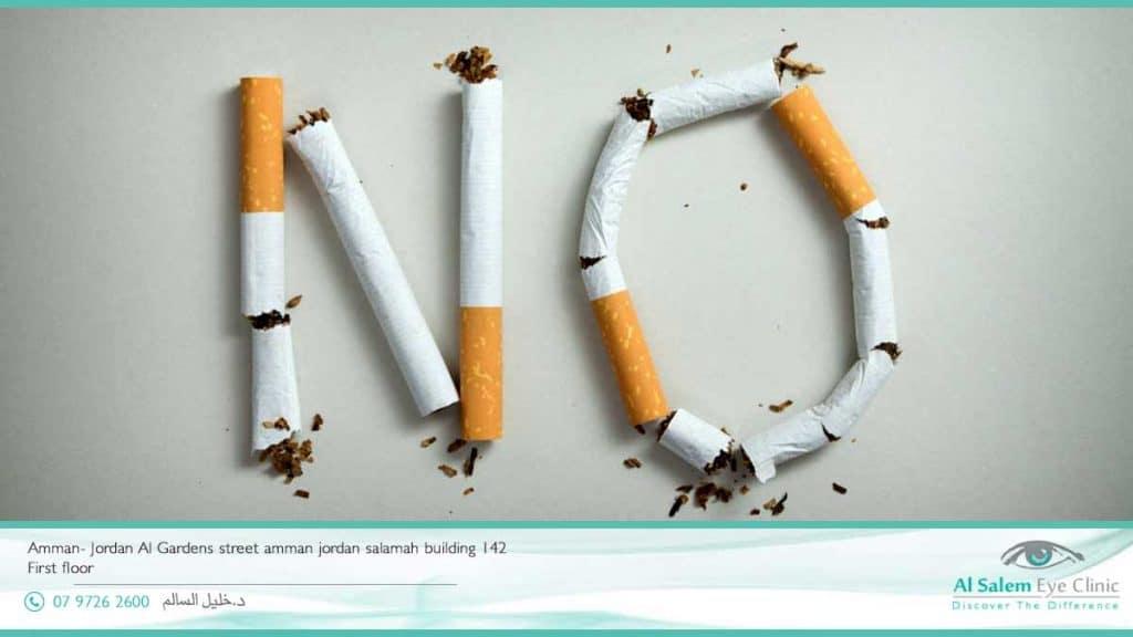 التدخين يسبب العمى  اعتلال الشبكية الشيخوخي